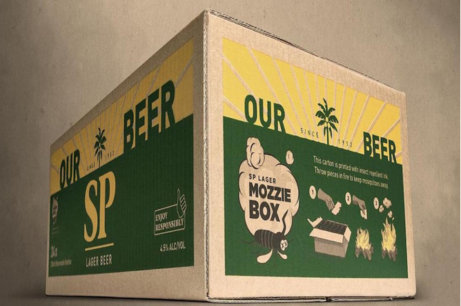 This Very Smart Beer Packaging Wards Off Mosquitoes When Burned