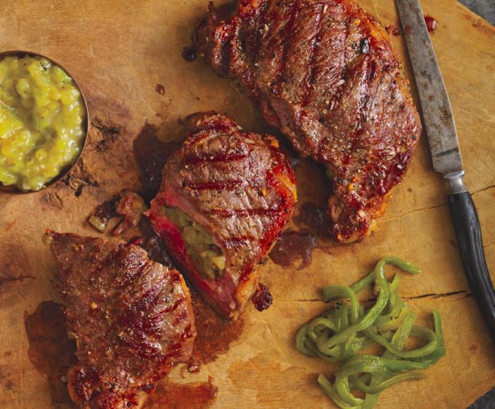 chile stuffed steak