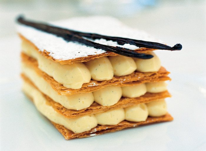 Napoleon Of Puff Pastry With Vanilla-Whiskey Cream Recipe