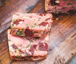 ham hock and black sausage terrine