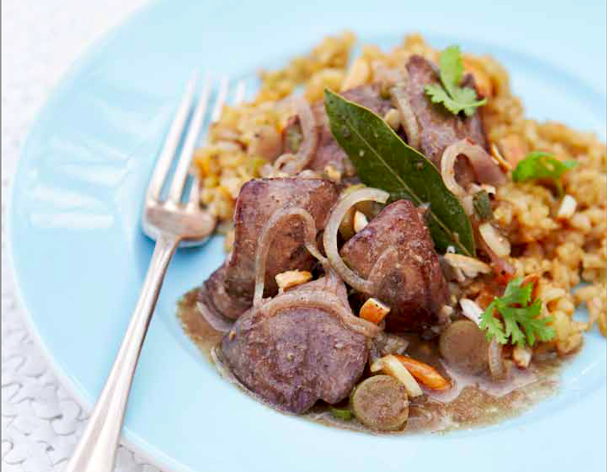 Freekeh With Chicken Livers Recipe Food Republic