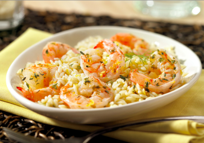 shrimp with dill orzo