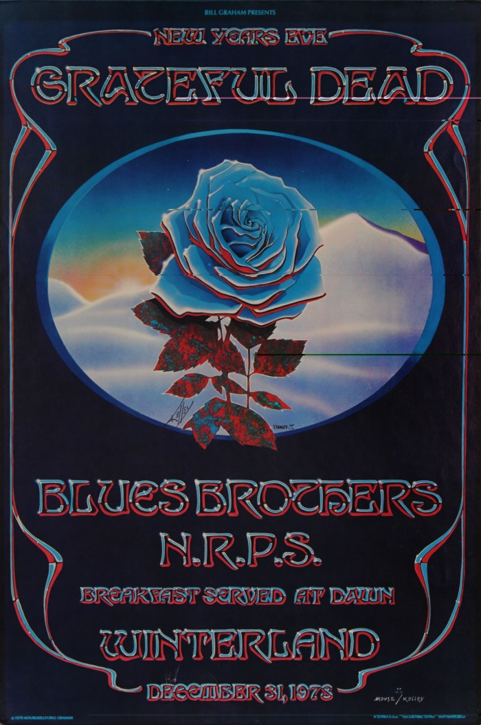 GD -Blue Rose- by Alton Kelley & Stanley Mouse, 1978