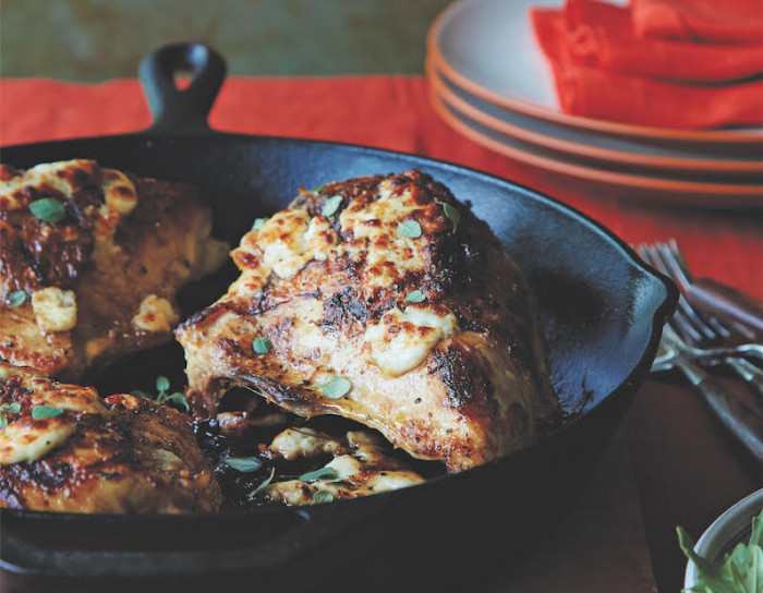 Add some tanginess to your chicken breast with some feta.