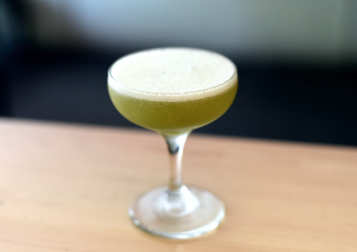 A Green-Tea-Infused Vodka Sour That Is Actually Awesome