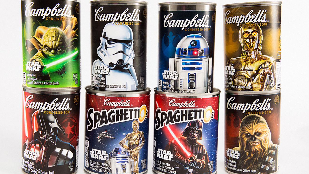 Coming Soon Star Wars Branded Campbell S Soup Cans Food Republic