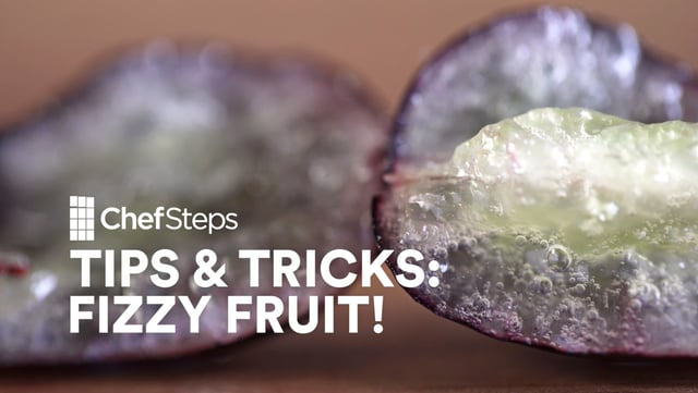 Your guests are sure to be impressed when they bite into fruit and realize it's been carbonated.
