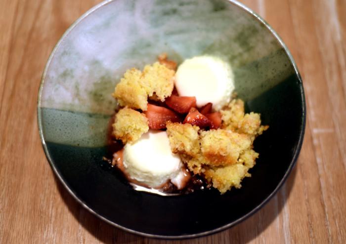 Strawberry Panna Cotta on one of Sarah Ritz's creations. (Photo courtesy of Faro.)
