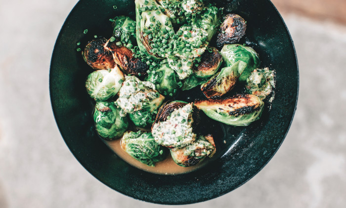 Charred Brussels Sprouts With Spicy Anchovy Butter