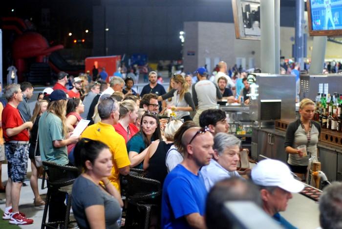 Band Box bar crowd