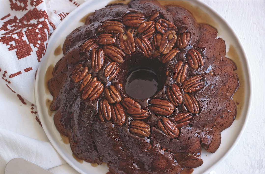 Chocolate Caramel Pecan Bundt Cake Food Republic