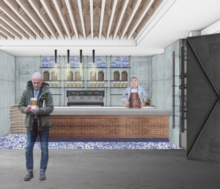Cafe (Rendering: courtesy China Live)