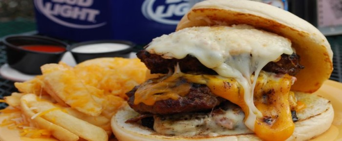 Fred Flintstone would absolutely crush a Niffasaurus Burger (Photo courtesy of Niffer's)