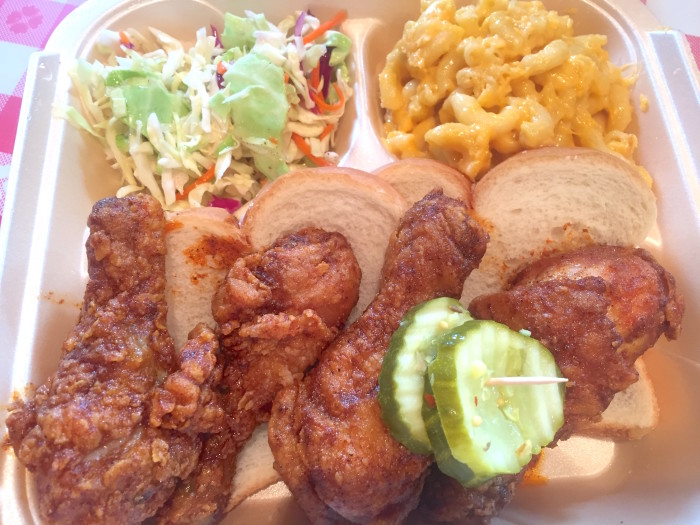 If you're in the Midwest and you're craving hot chicken, look no further than Hot Chicken Takeover in Columbus, Ohio. (Photo: Jess Kapadia.)