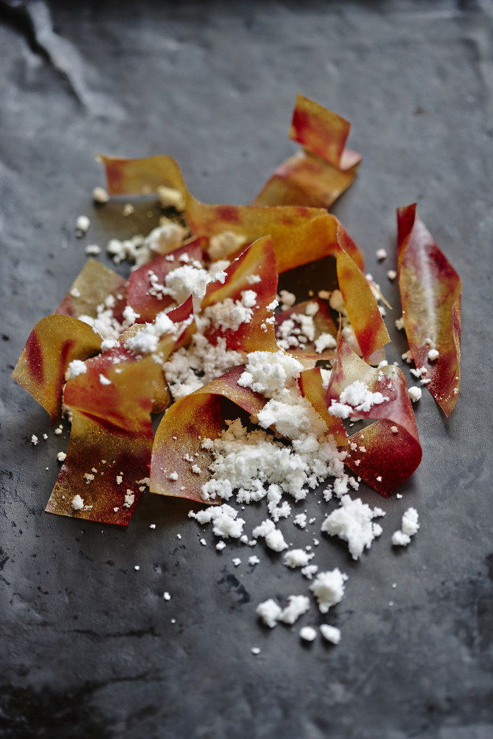 preserved lime and onion crisps