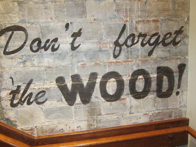Buxton Hall Wood Sign