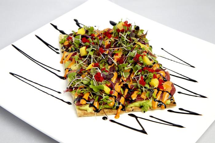 Spicy Tuna Caviar Flatbread-2