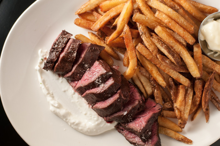 Red Cow serves up delectable cuts of meat, including these steak frites.