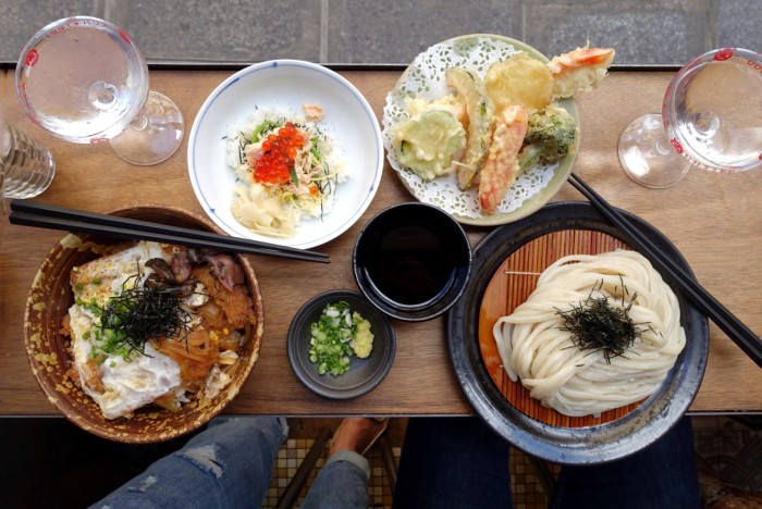 Handmade udon heaven can be found at this bistro.