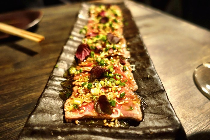 Sip on sake and sochu while dining on small cold plates at Lengué.