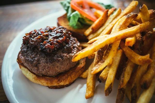 Duseks slagel farm burger Photo Credit- Dusek's Board & Beer