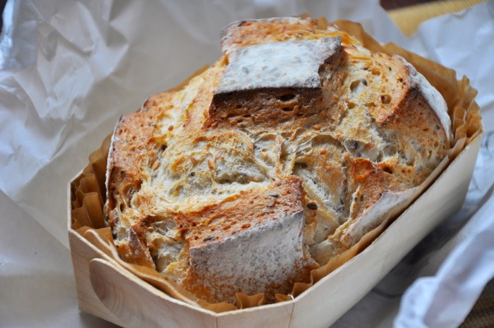 Fréderic Lalos says that his pain aux céréales is the perfect pairing to a saucy dish.