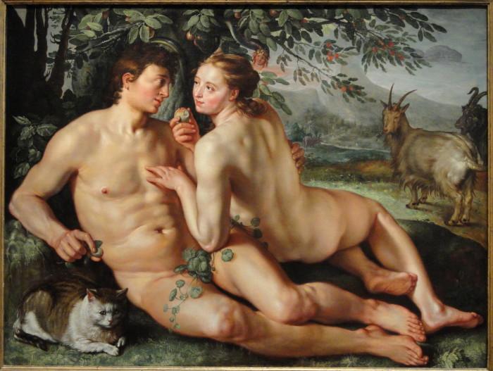 The_Fall_of_Man_by_Hendrik_Goltzius,_Dutch,_1616,_oil_on_canvas_-_National_Gallery_of_Art,_Washington_-_DSC09946