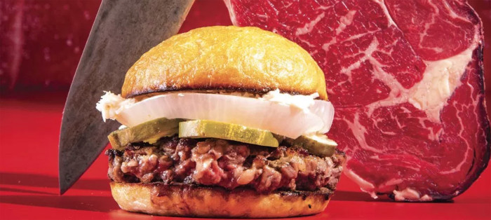 hand cut burger 4th of july burger