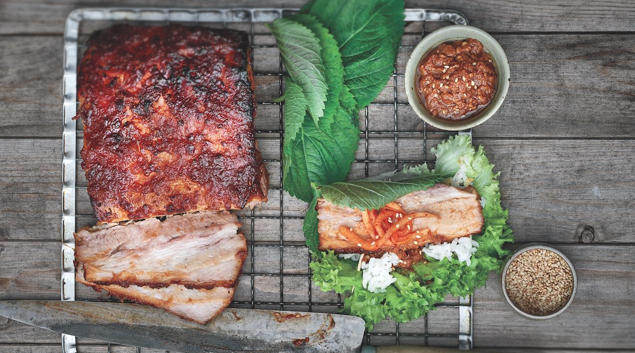 Korean Tonight: How To Make Pork Belly Lettuce Wraps