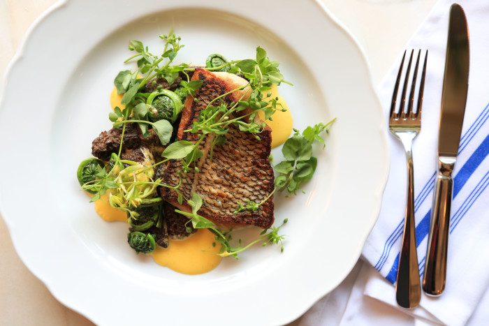 """Giffen's beautiful, Instagrammable dishes must pass the """"Dad test."""" (Photo: Katie Burton.)"""