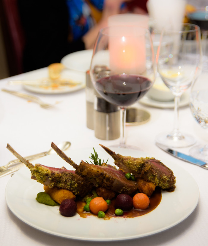 Grilled baby lamb chops was one of the daily specials offered at AmphorA, one of Wind Surf's restaurants. (Photo credit: Steve Schimmelman)