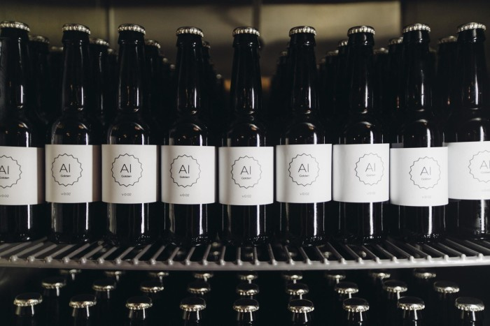 These beers were brewed with the help of an algorithm. (Photo: IntelligentX Brewing Company/Facebook.)
