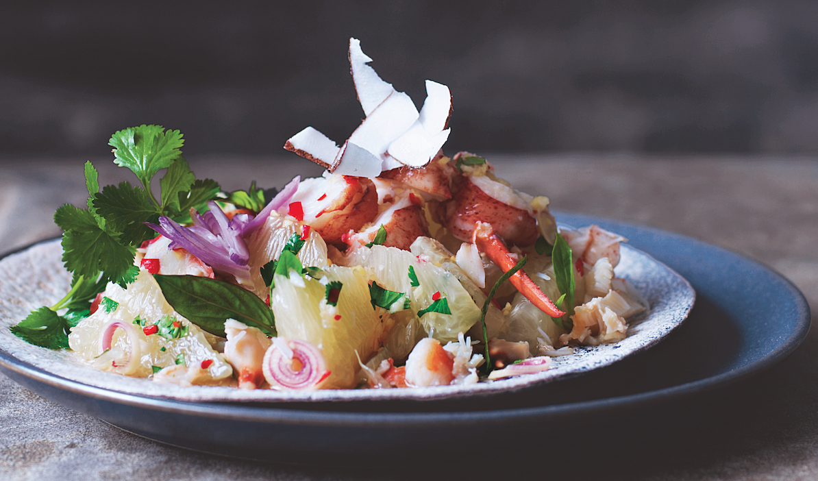 Thai Pomelo Salad With Lobster And Crab