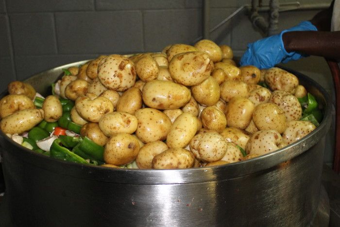 melvin's hash veggies courtesy of Melvin's Barbecue