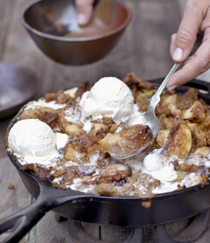 Smoked Bacon-Bourbon Apple Crisp - c Matthew Benson
