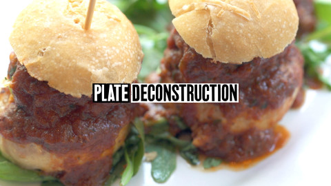 Little Owl gravy meatball sliders