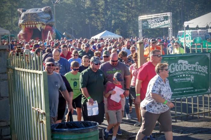 Eggtoberfest crowd
