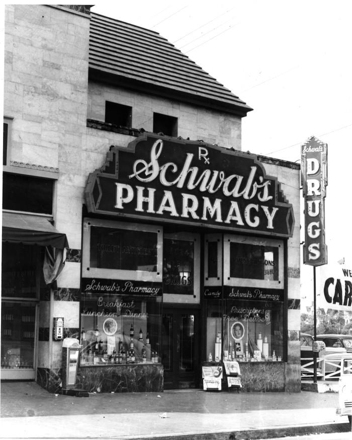 Sunset Strip 1949 Schwab's Pharmacy