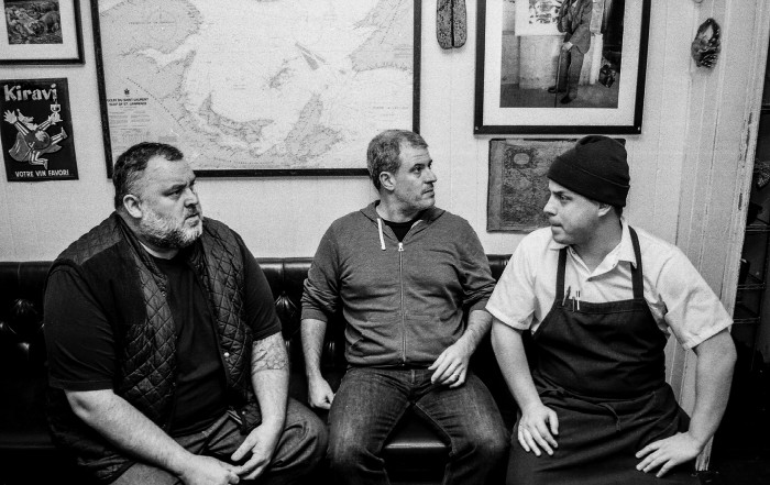 David McMillan (far left) and Frédéric Morin (far right) have built an empire of their own in Montreal.
