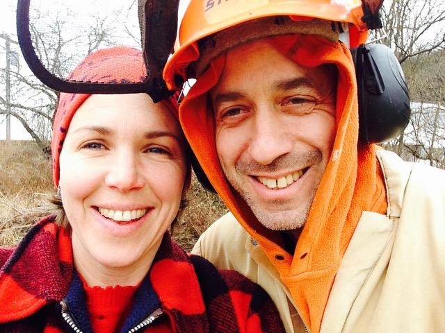 Autumn Stoscheck and husband Ezra.