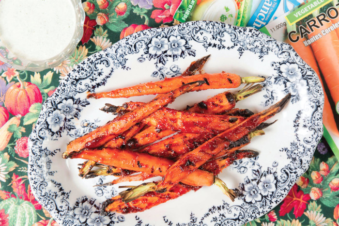 lucky peach's bbq carrots with ranch