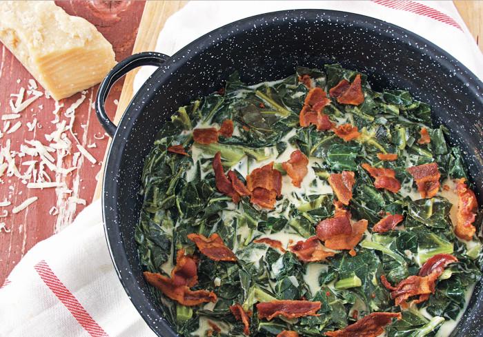 creamed parmesan collard greens recipe