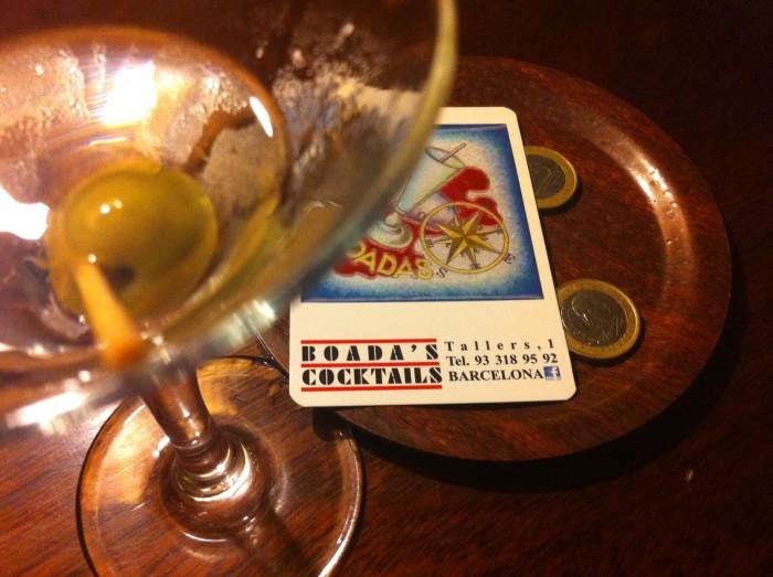 throwing martinis