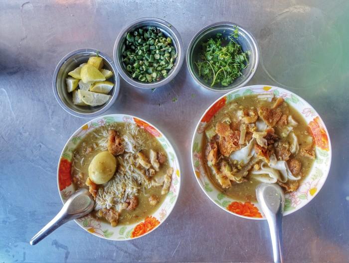 Mohinga is a popular breakfast option in Myanmar.