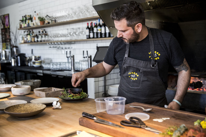 At Tarsan i Jane, Chef Perfecte Rocher prepares Valencian-inspired small plates and stellar paella. (Photo credit: Suzi Pratt)