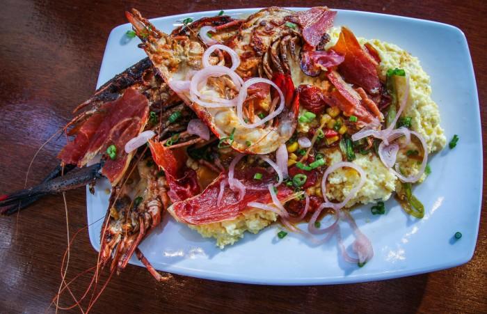 river shrimp and grits