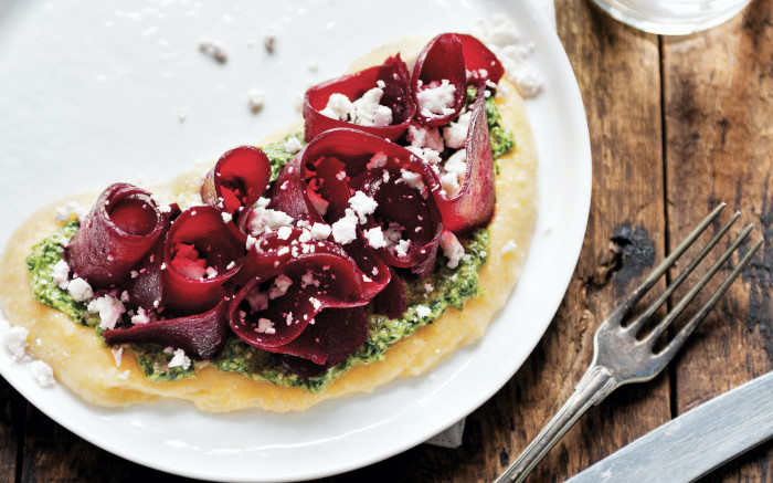 polenta with beet