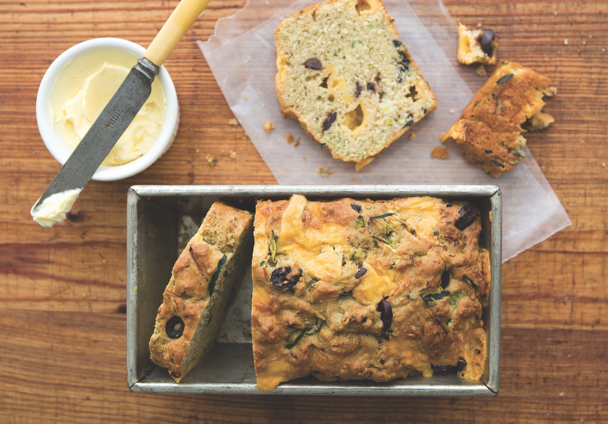 A Cheesy Zucchini And Olive Bread Perfect For Breakfast