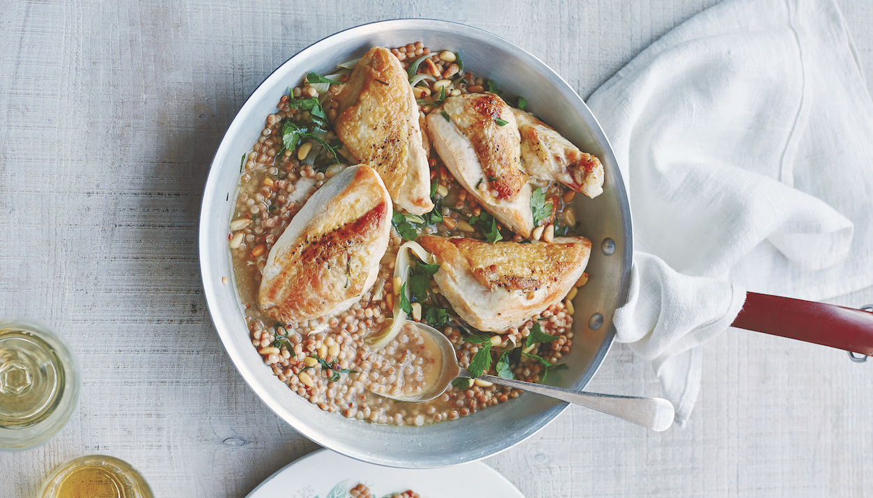 Tarragon Chicken With Pearl Couscous, On The Table Fast!
