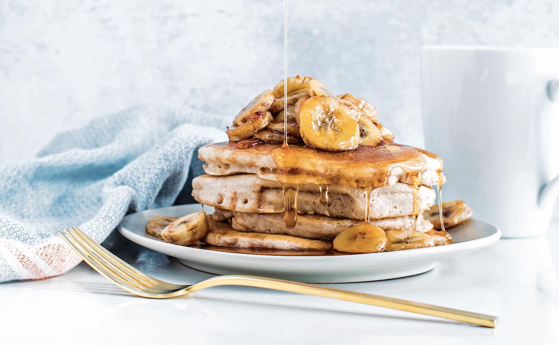 Very Vegan: Pancakes With Roasted Bananas